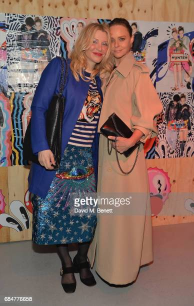 Courtney Love and Stella McCartney attend the Hunter Festival Kick Off Party on May 18 2017 in London England
