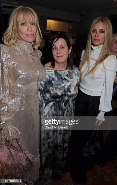 Courtney Love Arianne Phillips and Laura Bailey attend the Charles Finch CHANEL PreBAFTA Party at 5 Hertford Street on February 1 2020 in London...