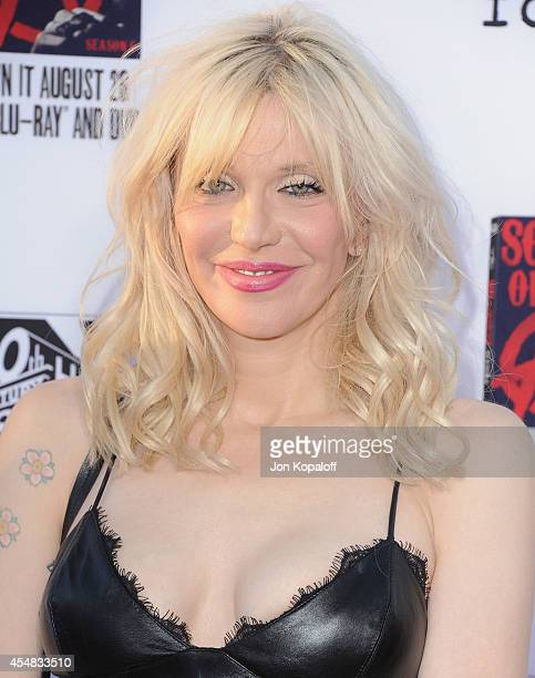 Courtney Love arrives at FX's 'Sons Of Anarchy' Premiere at TCL Chinese Theatre on September 6 2014 in Hollywood California