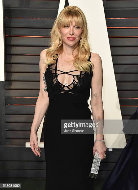 Courtney Love arrives at the 2016 Vanity Fair Oscar Party Hosted By Graydon Carter at Wallis Annenberg Center for the Performing Arts on February 28,...