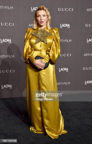 Courtney Love arrives at the 2018 LACMA Art Film Gala at LACMA on November 3 2018 in Los Angeles California