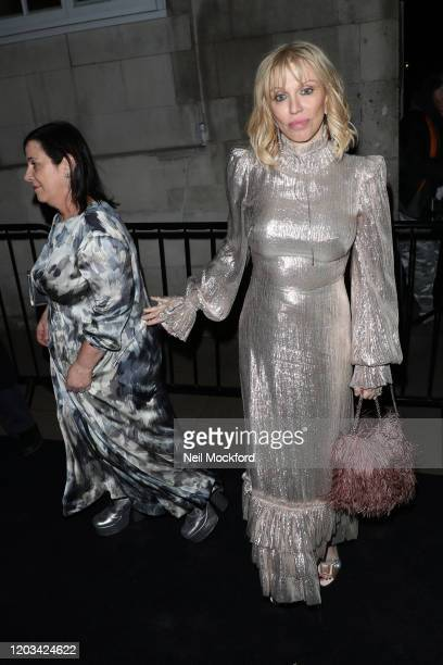 Courtney Love arrives at the Charles Finch CHANEL PreBAFTA Party at 5 Hertford Street on February 1 2020 in London England