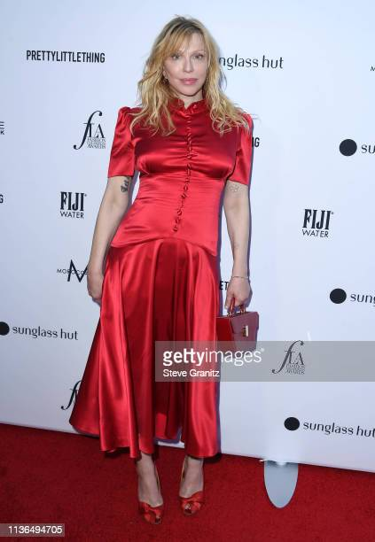 Courtney Love arrives at The Daily Front Row's 5th Annual Fashion Los Angeles Awards at Beverly Hills Hotel on March 17, 2019 in Beverly Hills,...