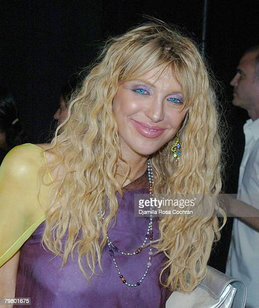Courtney Love at Marc Jacobs Spring 2008 during MercedesBenz Fashion Week at the New York State Armory on September 10 2007 in New York City