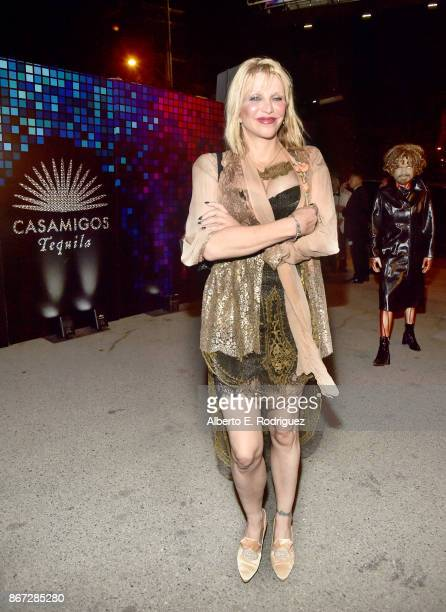 Courtney Love attends Casamigos Halloween Party on October 27 2017 in Los Angeles California