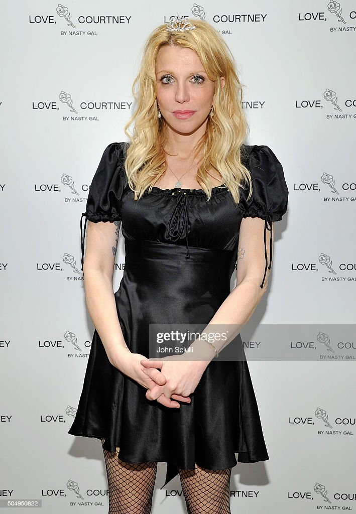 Courtney Love attends Love, Courtney by Nasty Gal launch party at Nasty Gal on January 13, 2016 in Los Angeles, California.