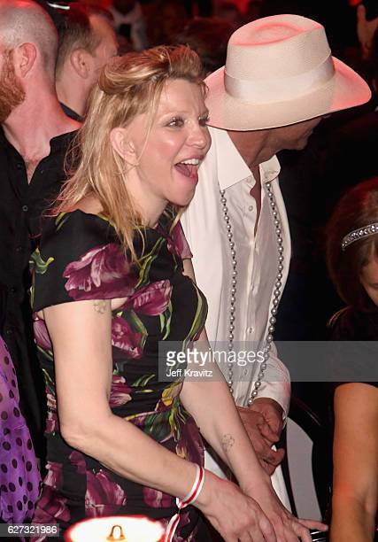 Courtney Love attends Madonna presents An Evening of Music Art Mischief and Performance to benefit Raising Malawi at Faena Forum on December 2 2016...