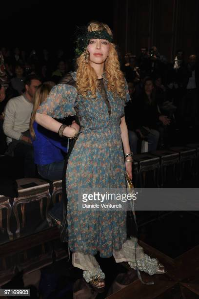Courtney Love attends Roberto Cavalli Milan Fashion Week Autumn/Winter 2010 show on February 28, 2010 in Milan, Italy.