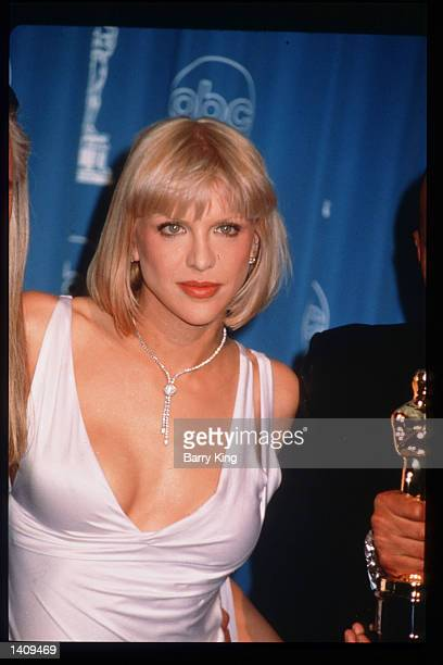 Courtney Love attends the 69th Annual Academy Awards ceremony March 24 1997 in Los Angeles CA