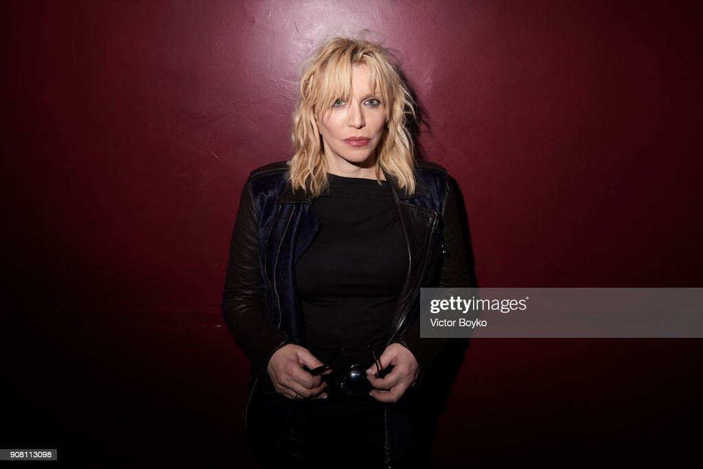 Courtney Love attends the Balmain Homme Menswear Fall/Winter 2018-2019 aftershow as part of Paris Fashion Week on January 20, 2018 in Paris, France.
