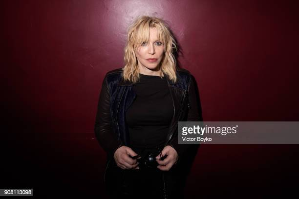 Courtney Love attends the Balmain Homme Menswear Fall/Winter 20182019 aftershow as part of Paris Fashion Week on January 20 2018 in Paris France