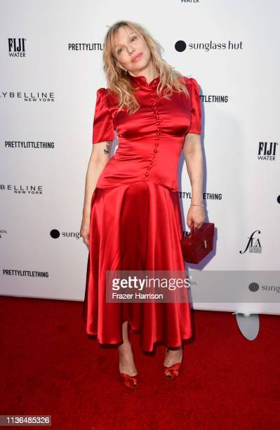 Courtney Love attends the Daily Front Row's 5th Annual Fashion Los Angeles Awards at Beverly Hills Hotel on March 17, 2019 in Beverly Hills,...