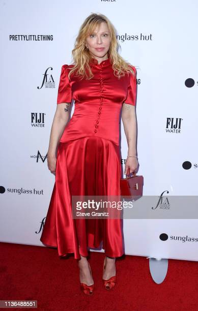 Courtney Love attends the Daily Front Row's 5th Annual Fashion Los Angeles Awards at Beverly Hills Hotel on March 17 2019 in Beverly Hills California