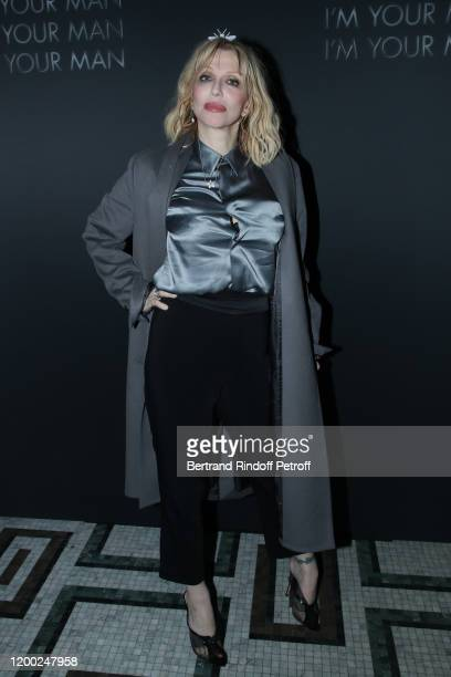 Courtney Love attends the Dior Perfume Dinner, as part of Paris Fashion Week, at Caviar Kaspia on January 17, 2020 in Paris, France.