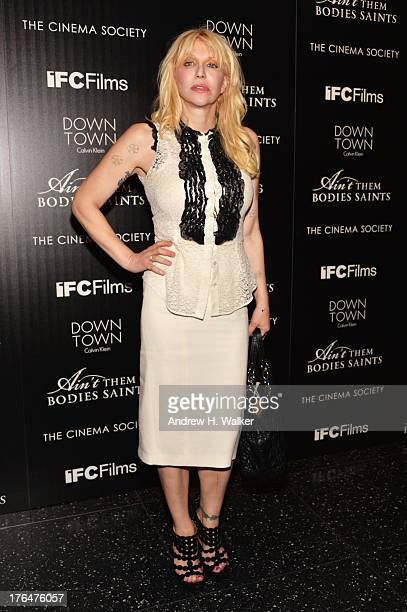Courtney Love attends the Downtown Calvin Klein with The Cinema Society screening of IFC Films' Ain't Them Bodies Saints at the Museum of Modern Art...