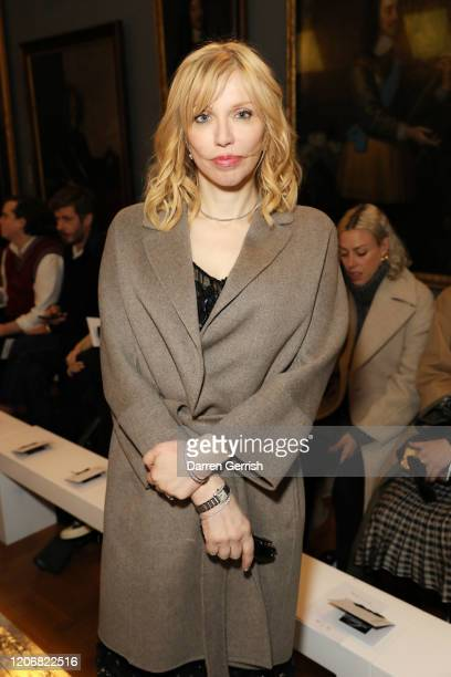 Courtney Love attends the Erdem show during London Fashion Week February 2020 on February 17 2020 in London England