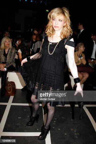 Courtney Love attends the Givenchy Ready to Wear Spring/Summer 2011 show during Paris Fashion Week on October 3, 2010 in Paris, France.