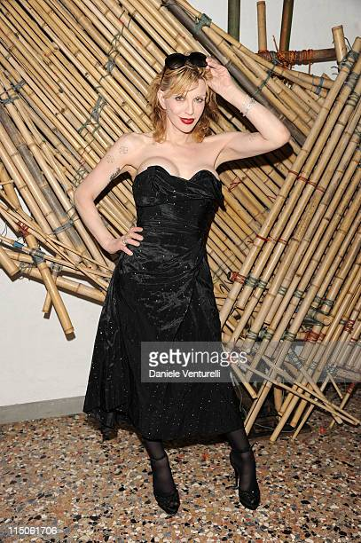 Courtney Love attends the 'Hogan And Big Bambu' Cocktail Party during the 54th International Art Biennale on June 2, 2011 in Venice, Italy.