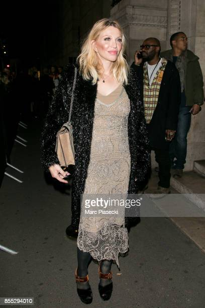 Courtney Love attends the 'L'Oreal Paris X Balmain' party on September 28 2017 in Paris France