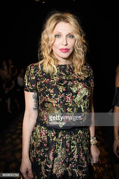 Courtney Love attends the Marchesa show during September 2016 New York Fashion Week at The Dock, Skylight at Moynihan Station on September 14, 2016...