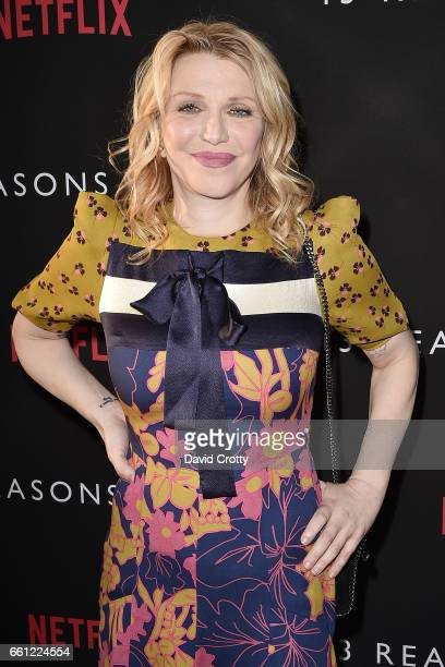 Courtney Love attends the premiere of Netflix's '13 Reasons Why' at Paramount Pictures on March 30 2017 in Los Angeles California