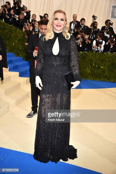 Courtney Love attends the 'Rei Kawakubo/Comme des Garcons Art Of The InBetween' Costume Institute Gala at Metropolitan Museum of Art on May 1 2017 in...