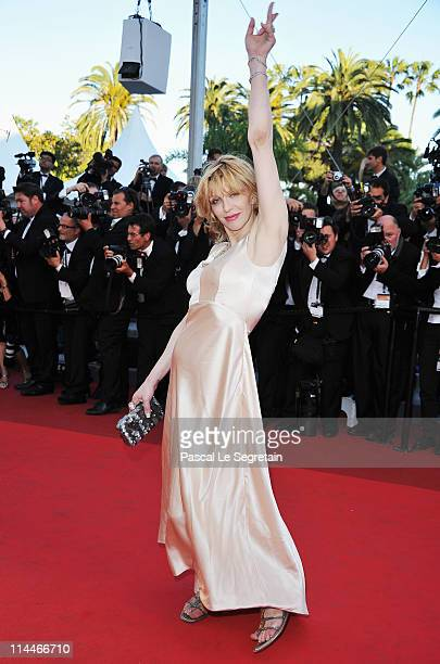 Courtney Love attends the 'This Must Be The Place' premiere during the 64th Annual Cannes Film Festival at Palais des Festivals on May 20 2011 in...