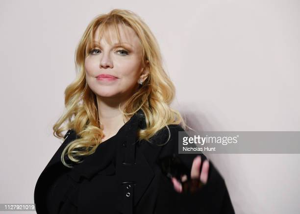 Courtney Love attends the Tom Ford FW 2019 Arrivals during New York Fashion Week The Shows on February 06 2019 in New York City