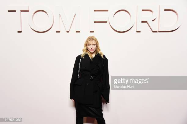 Courtney Love attends the Tom Ford FW 2019 Arrivals during New York Fashion Week: The Shows on February 06, 2019 in New York City.
