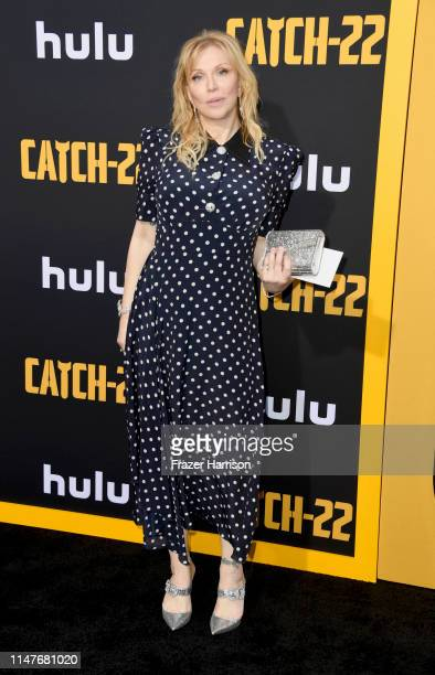 """Courtney Love attends the U.S. Premiere of Hulu's """"Catch-22"""" at TCL Chinese Theatre on May 07, 2019 in Hollywood, California."""