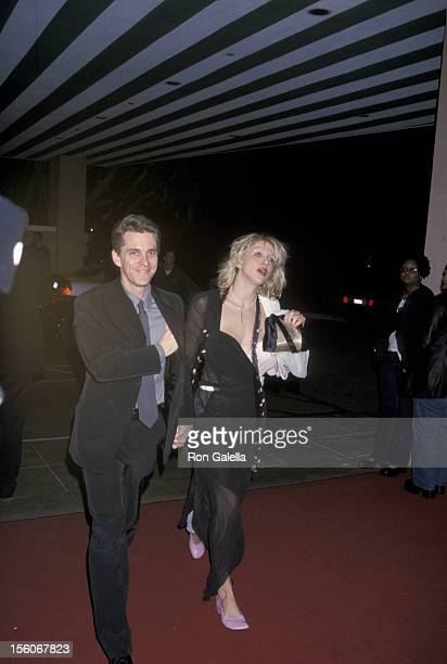 Courtney Love boyfriend during The 42nd Annual GRAMMY Awards Arista Records PreGRAMMY Party at Beverly Hilton Hotel in Beverly Hills California...
