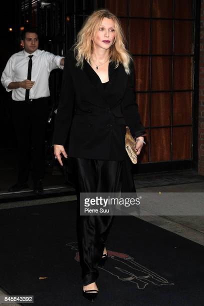 Courtney Love comes out of the Bowery Hotel on September 11 2017 in New York City