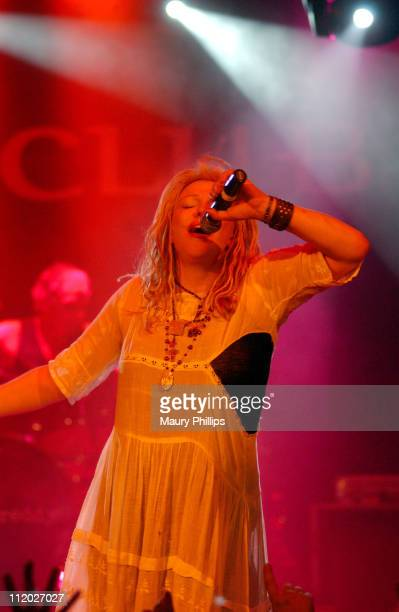 Courtney Love during Camp Freddy Benefit Concert for South East Asia Tsunami Relief at Key Club in West Hollywood California United States