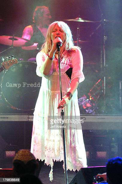 Courtney Love during Camp Freddy Benefit Concert for South East Asia Tsunami Relief at Key Club in Hollywood California United States