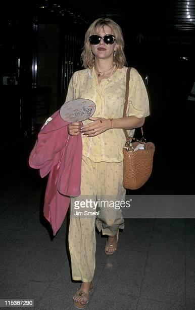 Courtney Love during Courtney Love at Los Angeles International Airport at Los Angeles International Airport in Los Angeles California United States