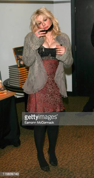 """Courtney Love during Courtney Love Signs Her Autobiography """"Dirty Blonde: The Diaries of Courtney Love"""" at Waterstones in London at Waterstones in..."""