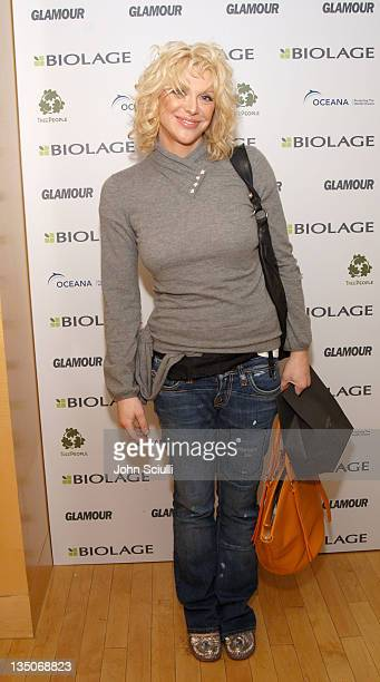 Courtney Love during Glamour Magazine Presents Biolage Golden Globe Style Lounge -Day 1 at L' Ermitage in Beverly Hills, CA, United States.