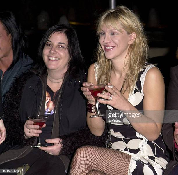 Courtney Love during Jeremy Scott Fashion Show with Makeup by Fred Farrugia of Lancome at Pacific Design Center in West Hollywood California United...
