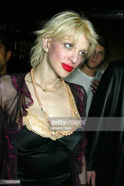 Courtney Love during Picture This Debbie Harry and Blondie by Mick Rock Book Launch Party Inside at Hiro Ballroom at The Maritime Hotel in New York...