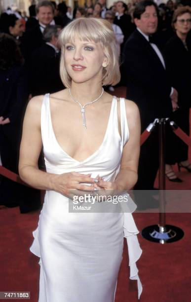 Courtney Love during The 69th Annual Academy Awards Arrivals at the Shrine Auditorium in Los Angeles California