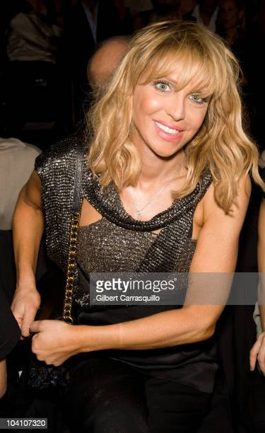 Courtney Love during the Narciso Rodriguez Spring 2011 fashion show during Mercedes-Benz Fashion Week at The Theater at Lincoln Center on September...