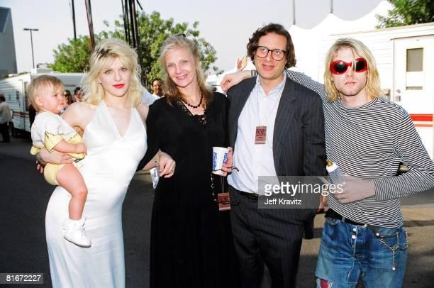 Courtney Love Frances Bean Cobain Danny Goldberg and wife and Kurt Cobain of Nirvana
