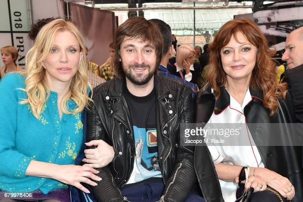Courtney Love Francesco Vezzoli and Sarandon Sarandon while attending the Prada Resort 2018 Womenswear Show in Osservatorio on May 7 2017 in Milan...