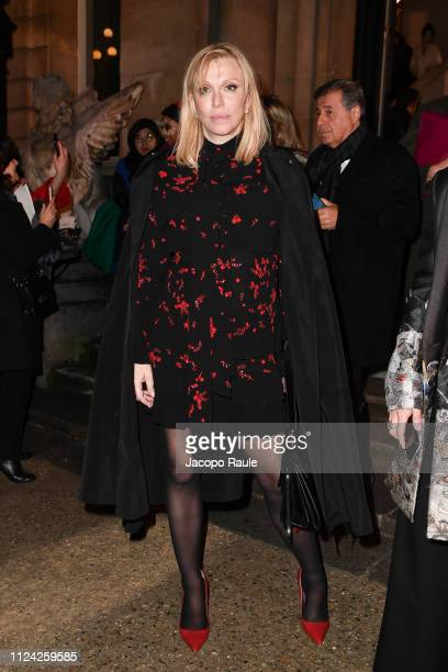 Courtney Love is seen arriving at Valentino fashion show during Paris Fashion Week Haute Couture Spring Summer 2020 on January 23 2019 in Paris France