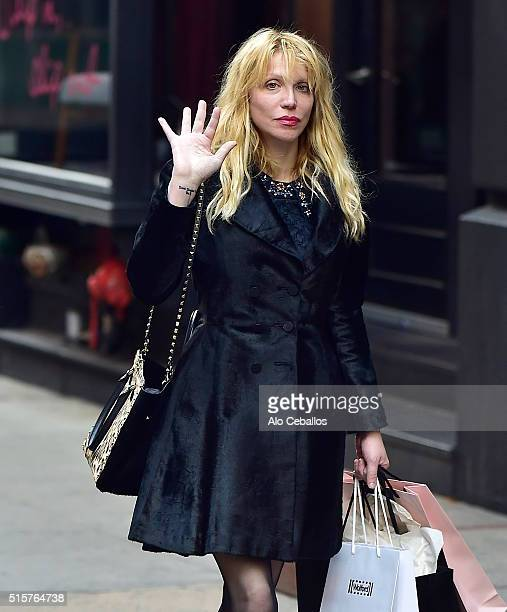 Courtney Love is seen in Soho on March 15 2016 in New York City