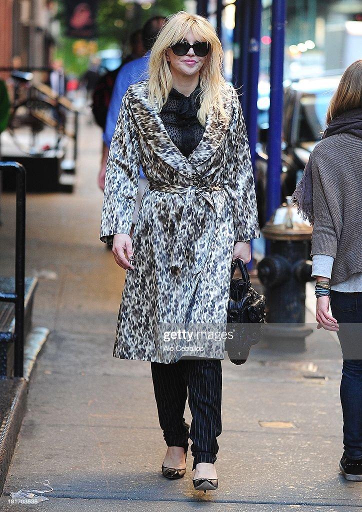 Courtney Love is seen in Soho on September 23, 2013 in New York City.