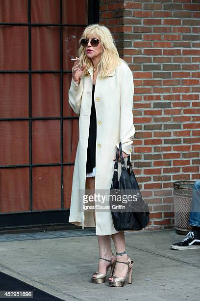 Courtney Love is seen on July 30 2014 in New York City