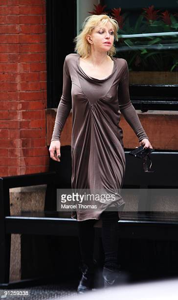 Courtney Love is seen on the Streets of Manhattan on September 29 2009 in New York City