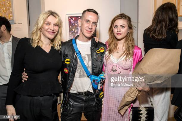 Courtney Love Jeremy Scott and Frances Bean Cobain attend 'Other Peoples Children launch and store opening' at Other Peoples Children on March 8 2018...