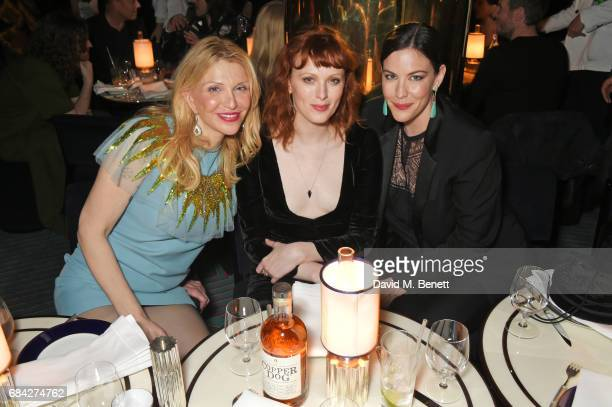 Courtney Love Karen Elson and Liv Tyler attend a private dinner celebrating the launch of the KATE MOSS X ARA VARTANIAN collection at Isabel on May...